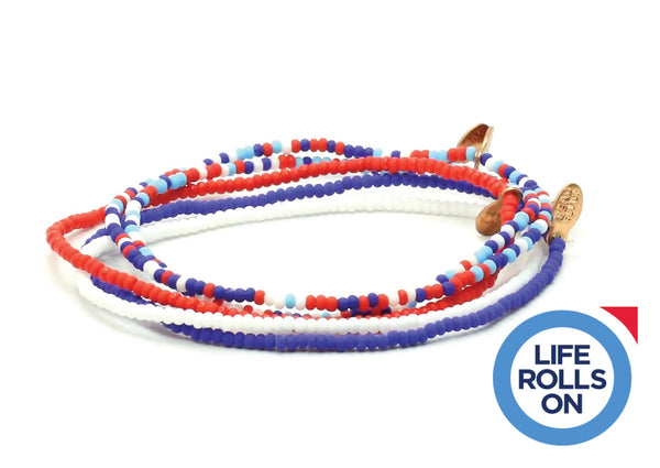 Life Rolls On Bracelet 5-pack - Bead Relief