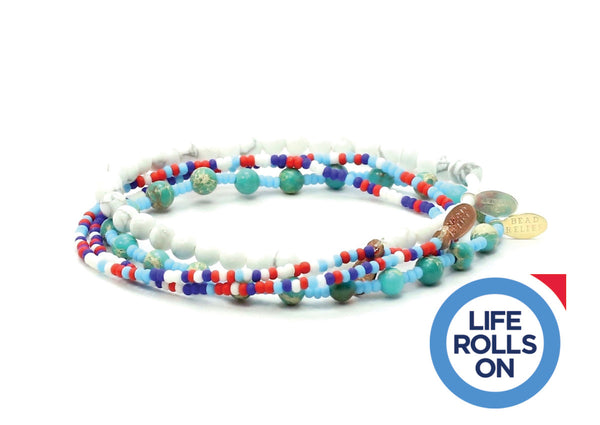 Life Rolls On Bracelet Combo Stack - Bead Relief