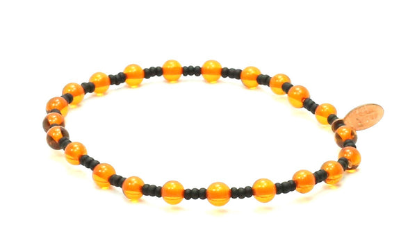 Amber + Black Seed | Good Luck Bracelet - Bead Relief