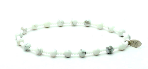 Howlite + White Seed | Peace Bracelet - Bead Relief
