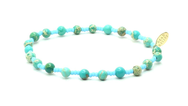 Imperial Jasper + Aqua Seed | Tranquility Bracelet - Bead Relief