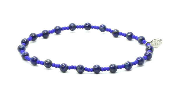 Lapis + Blue Seed | Truth Bracelet - Bead Relief
