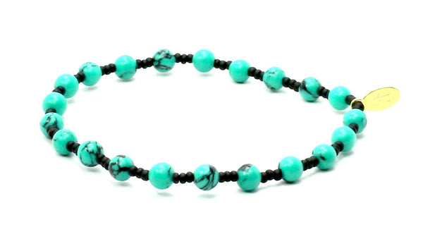 Turquoise + Black Seed | Guidance Bracelet
