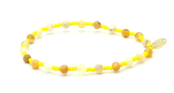 Yellow Opal + Yellow Seed | Serenity Bracelet