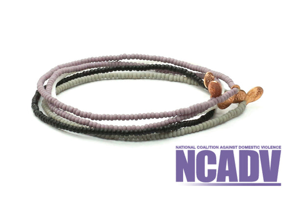 National Coalition Against Domestic Violence Bracelet 5-Pack - Bead Relief