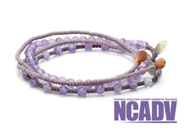 National Coalition Against Domestic Violence Bracelet Combo Stack - Bead Relief