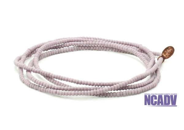 National Coalition Against Domesic Violence Wrap Bracelet - Bead Relief