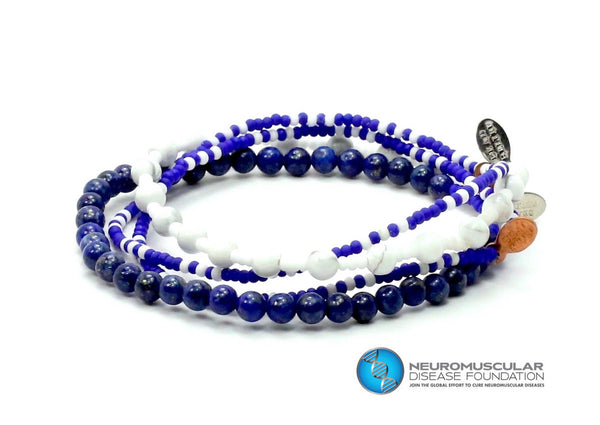Neuromuscular Disease Foundation HIBM Bracelet Combo Stack