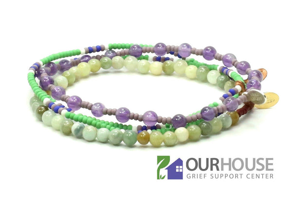 OUR HOUSE Grief Support Center Bracelet Combo Stack - Bead Relief