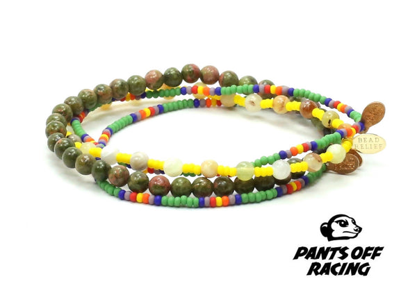 Pants Off Racing Bracelet Combo Stack - Bead Relief