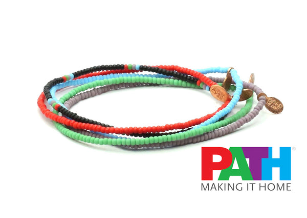 PATH People Assisting the Homeless Bracelet 5-pack - Bead Relief