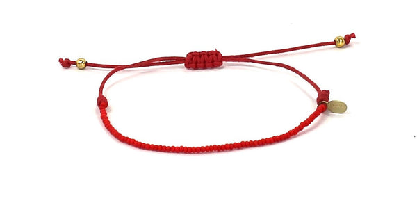 Red String Tie Bracelet