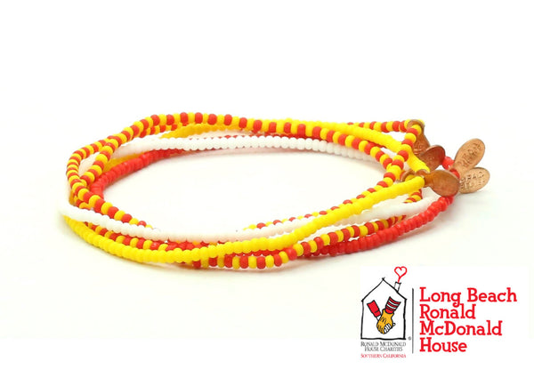 Ronald McDonald House Long Beach Bracelet 5-pack - Bead Relief