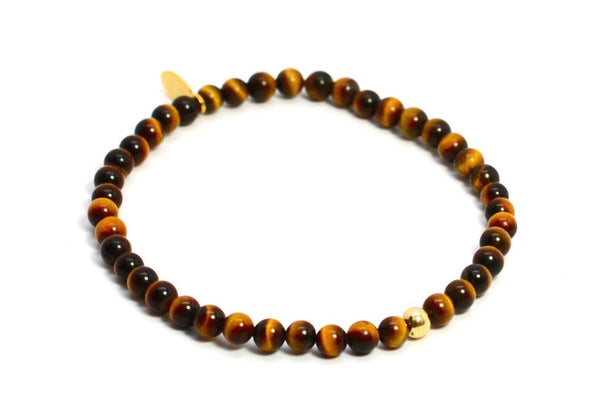 Tigers Eye | Gold Line - Bead Relief