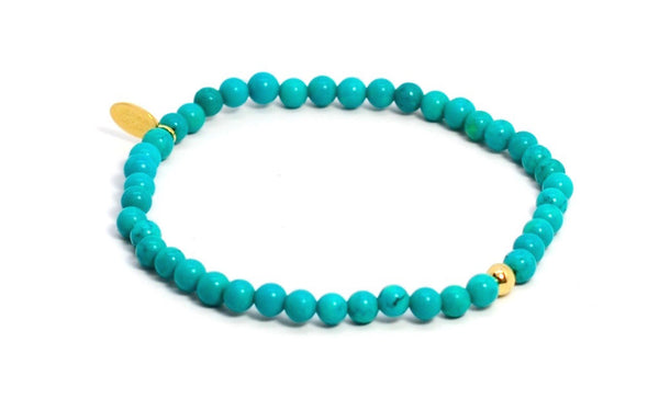 Turquoise | Gold Line - Bead Relief
