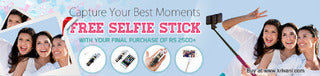 Free Selfie Stick at Krivani