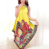 Yellow Silk Pajama with Floral Pattern
