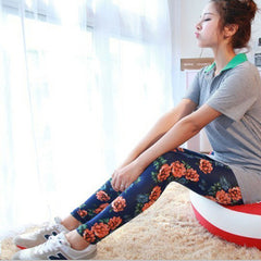 Floral Cotton Leggings1