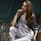 Silver Two-Piece Summer Pajama Set