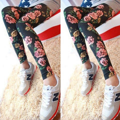 Floral Cotton Leggings