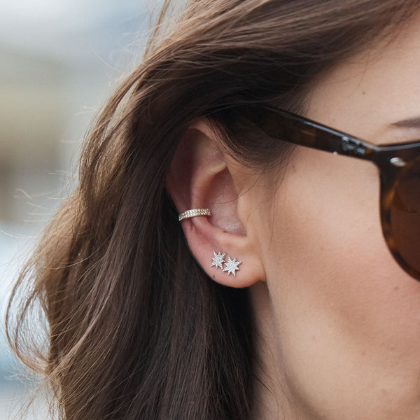 Anne Sisteron 14k Gold North Star Stud Earrings Iconery