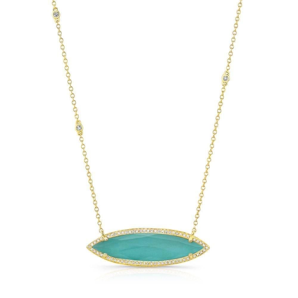 tied hand products turquoise necklace
