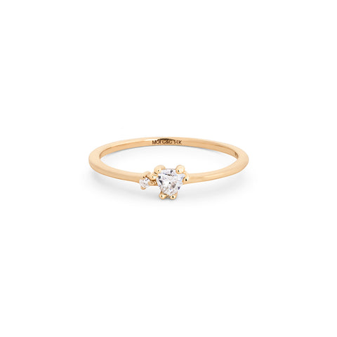 Trillion Moissanite Stackable Ring