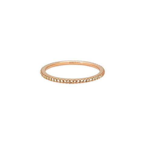 Inverted Diamond Stackable Ring - Infinity Band