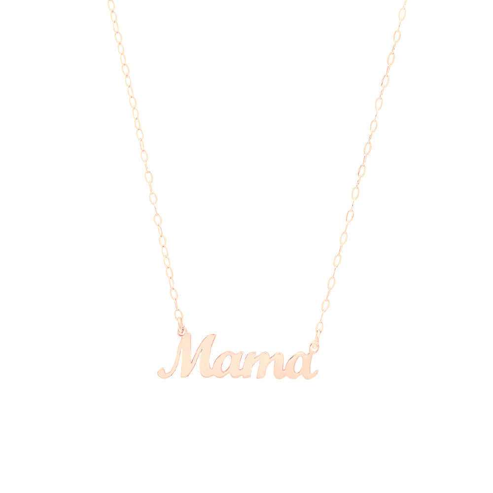 mama gold necklace adjustable pendant no with products rose carat mie chain karat