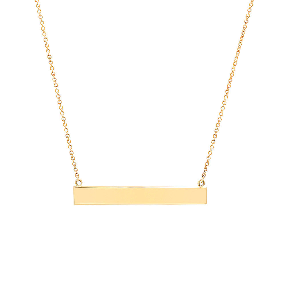 gold necklace diamond jewelry rectangle product pendant fine zhulia pearl goldrectanglependant gs