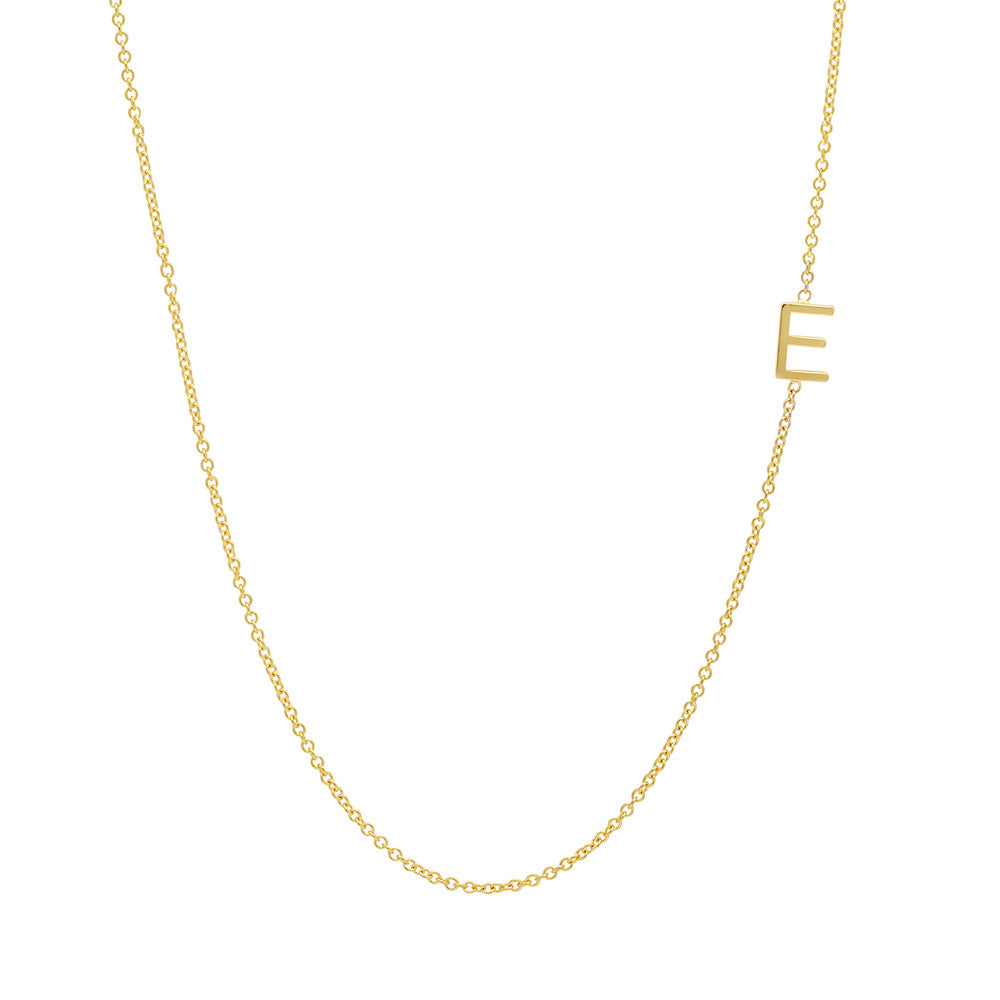 asymmetrical letter necklace