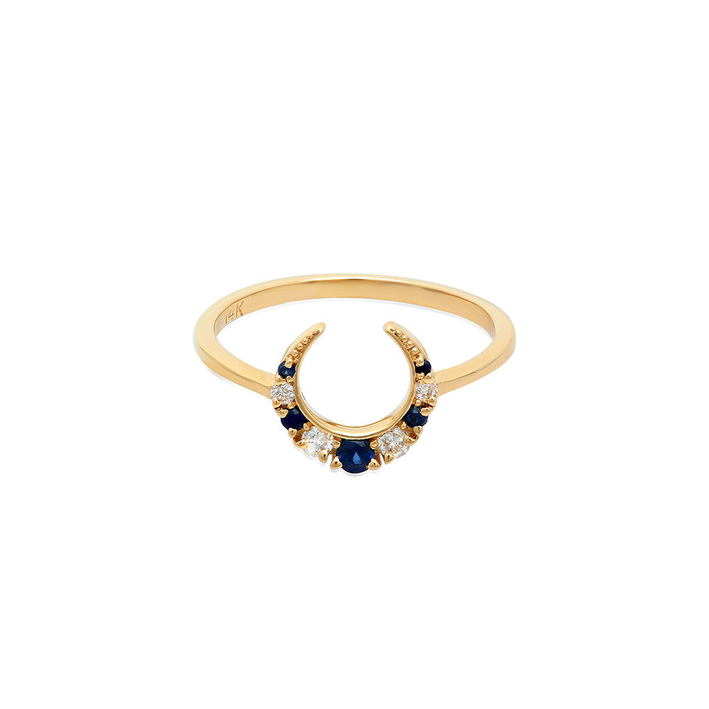 shop cluster ring sapphire the antique company diamond oval jewellery