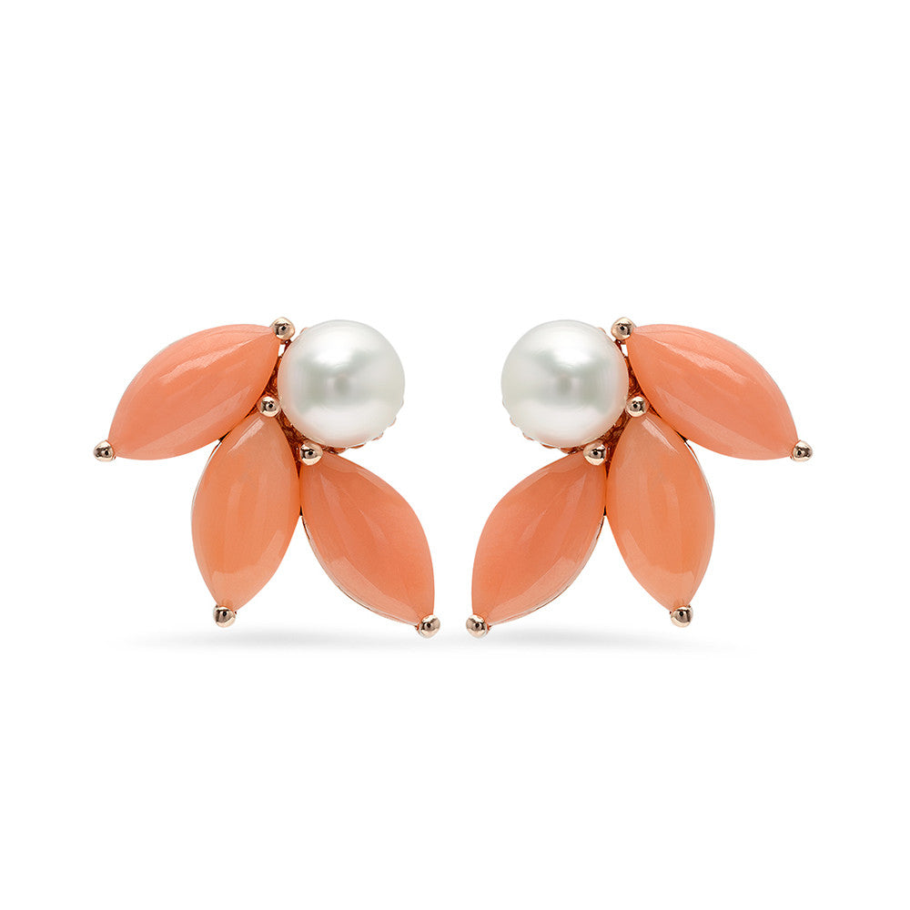 Pearl And Coral Earrings Iconery