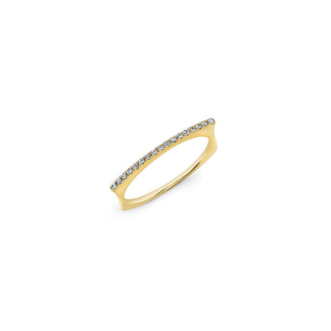 Diamond Bar Dome Ring