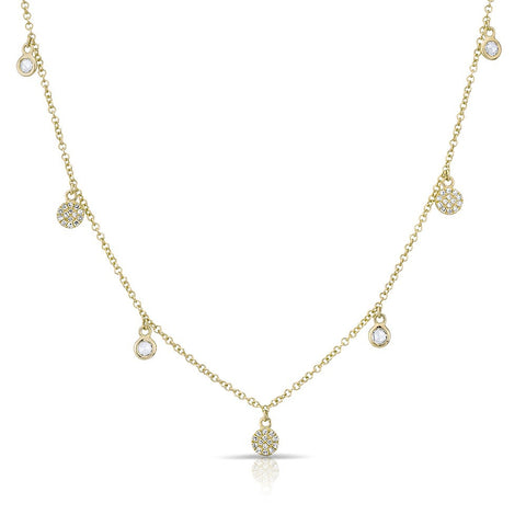 Diamond Droplets Necklace