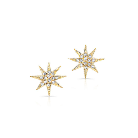 Glimmer Star Stud Earrings