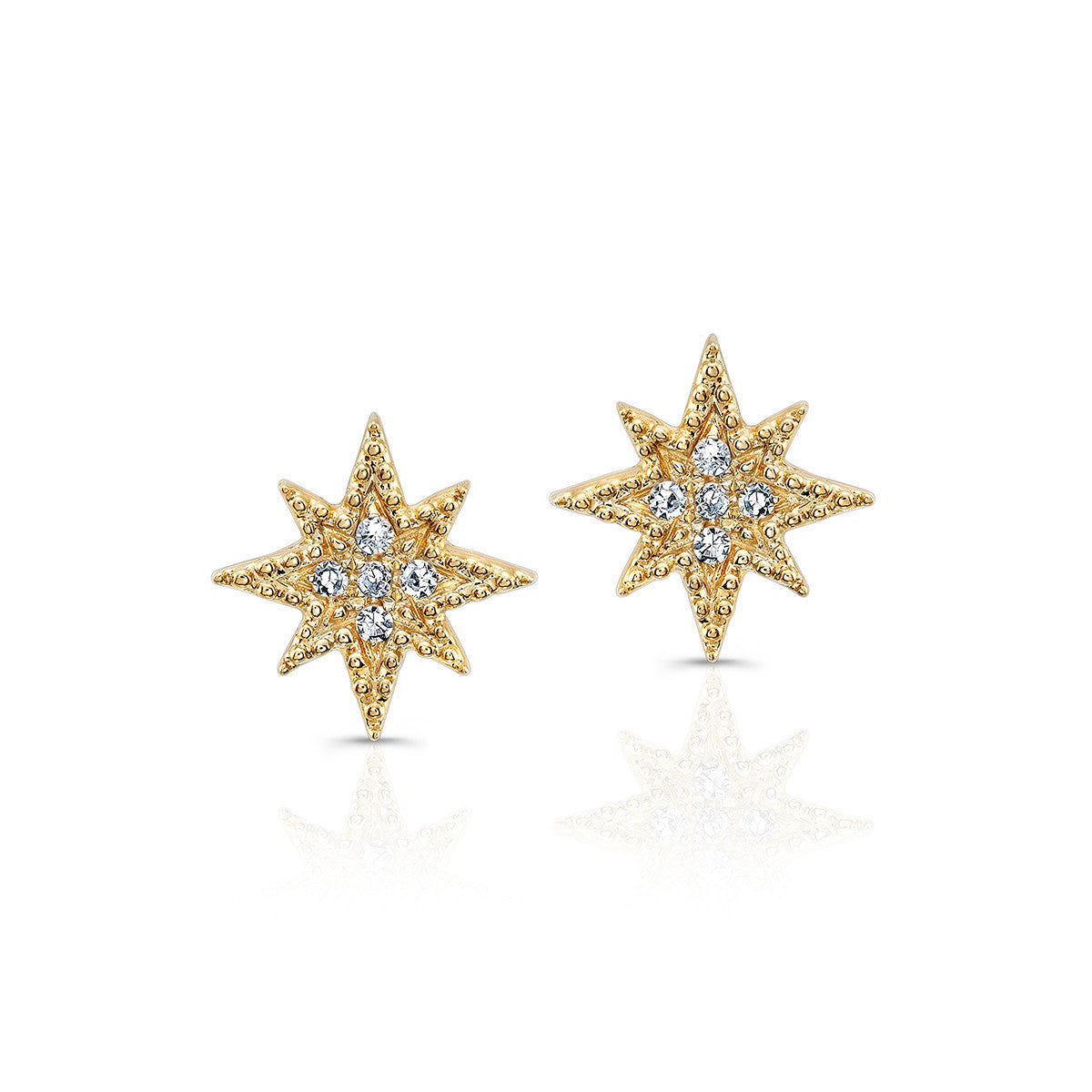 1f7570746 Anne Sisteron 14K Gold North Star Stud Earrings - ICONERY