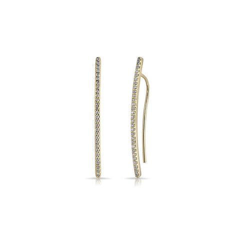 Diamond Mini Wishbone Earrings