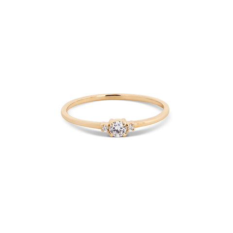 Round Moissanite Stackable Ring