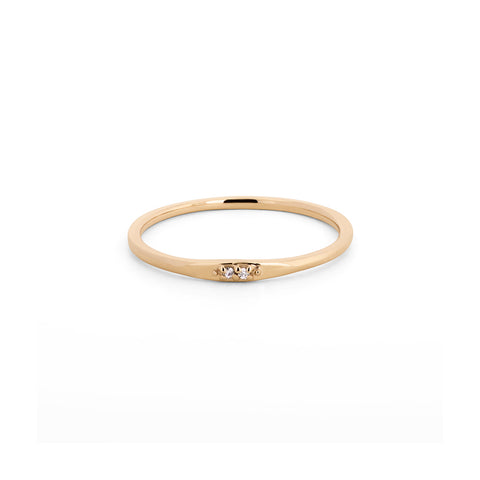 Moissanite Stackable Band