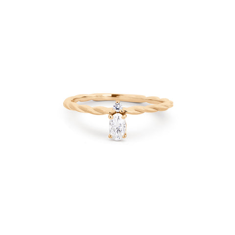 Vertical Oval Moissanite Stackable Ring