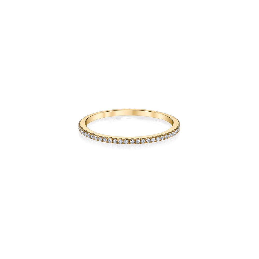 bands iconery stackable band gold luxe black plus diamond infinity ring products yellow