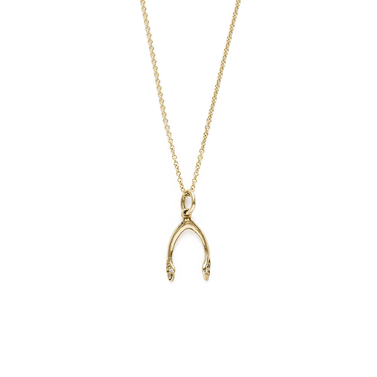 Lena wald 14k gold or silver wishbone necklace iconery wishbone necklace wishbone necklace aloadofball Image collections