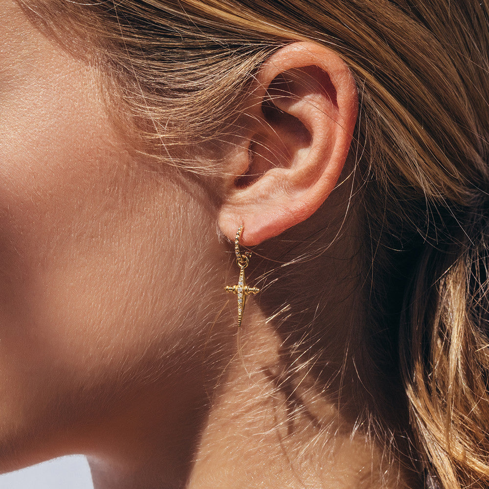 gold iconery kite yellow earrings luv aj model hook products