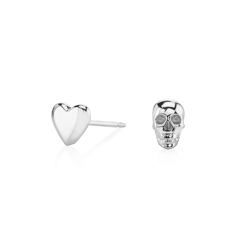 gold stud heart earrings shop product marble