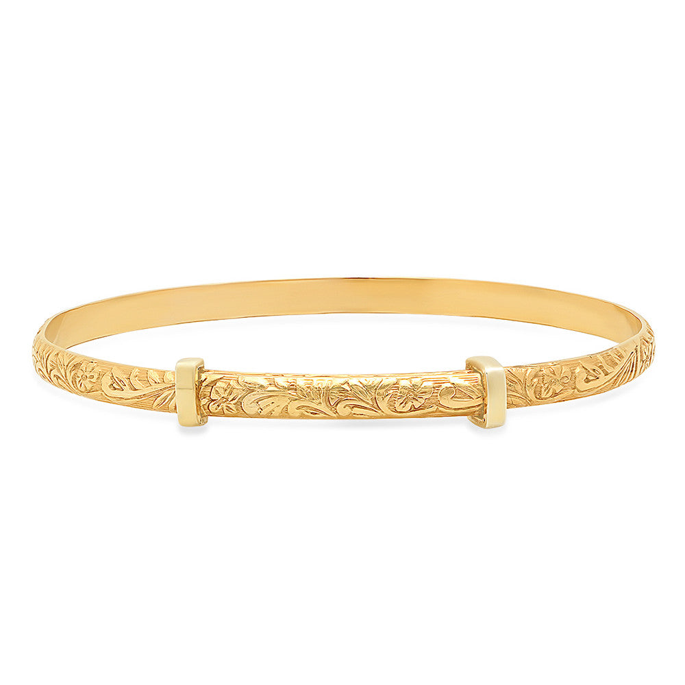 gold yellow hole jewelry jackson products bracelet jh company bangle bangles