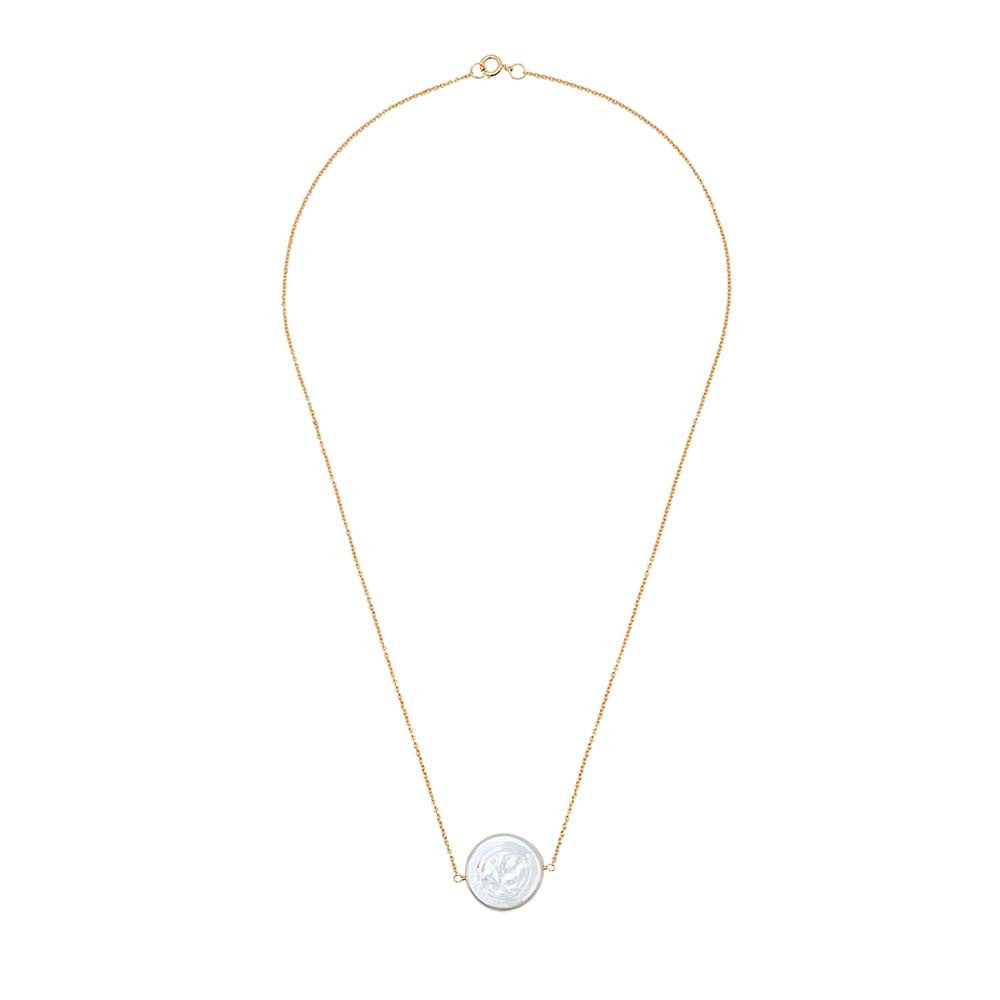 Single Flat Pearl Necklace