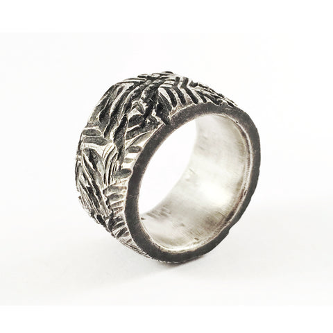 Labbe Textured Silver Ring