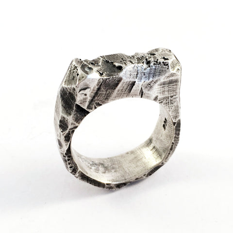 Ott Textured Silver Ring