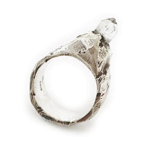 Jard Textured Silver Ring